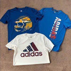 3 Adidas shirts size 14/16